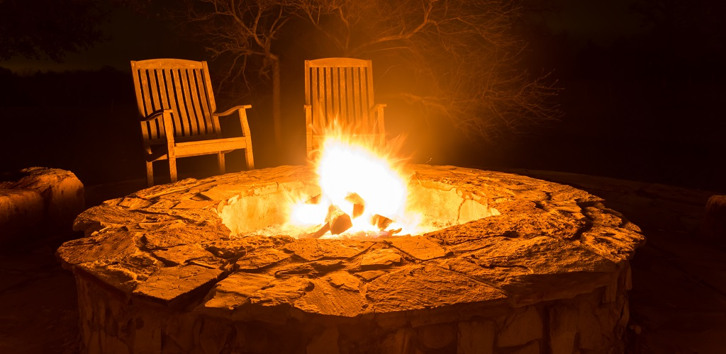 enjoy your patio all winter with an outdoor fireplace or. Black Bedroom Furniture Sets. Home Design Ideas