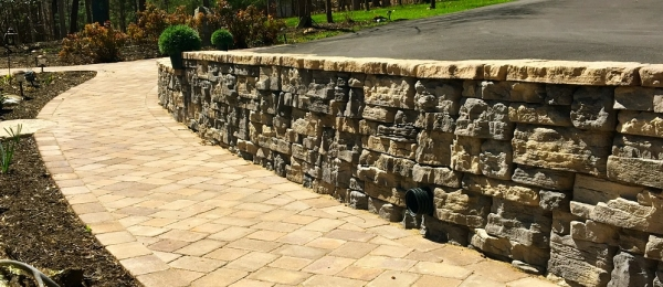 Look Natural with this Stone Wall from Boxley Block, Brick & Hardscapes